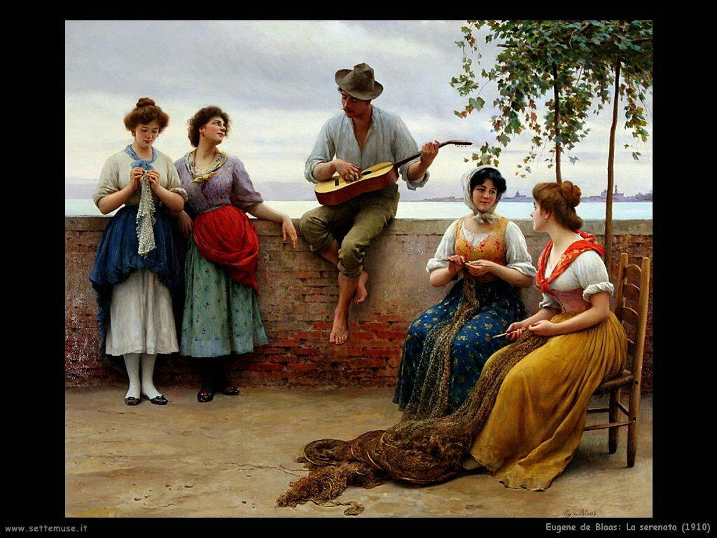 eugene de blaas La serenata (1910)