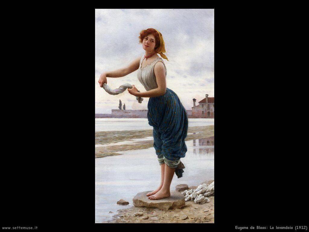 eugene de blaas La lavandaia (1912)