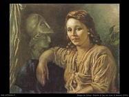 giorgio de chirico Ritratto di Isa con Minerva (1944)