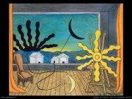 giorgio de chirico Sole sul cavalletto (1973)