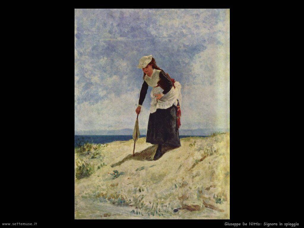 Signora in spiaggia