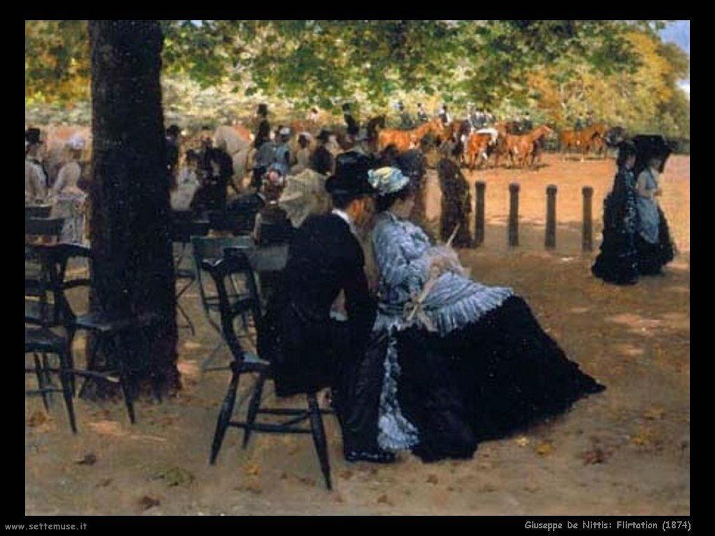 giuseppe de nittis Flirtation (1874)