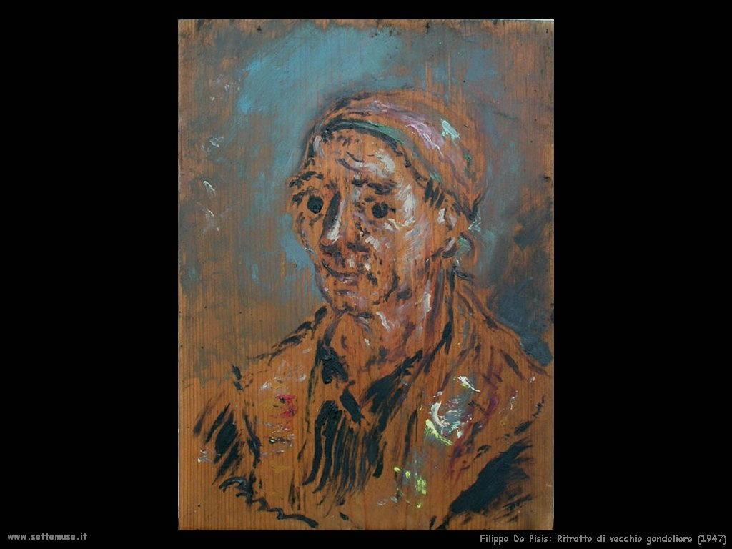 Filippo De Pisis Ritratto di vecchio gondoliere (1947)