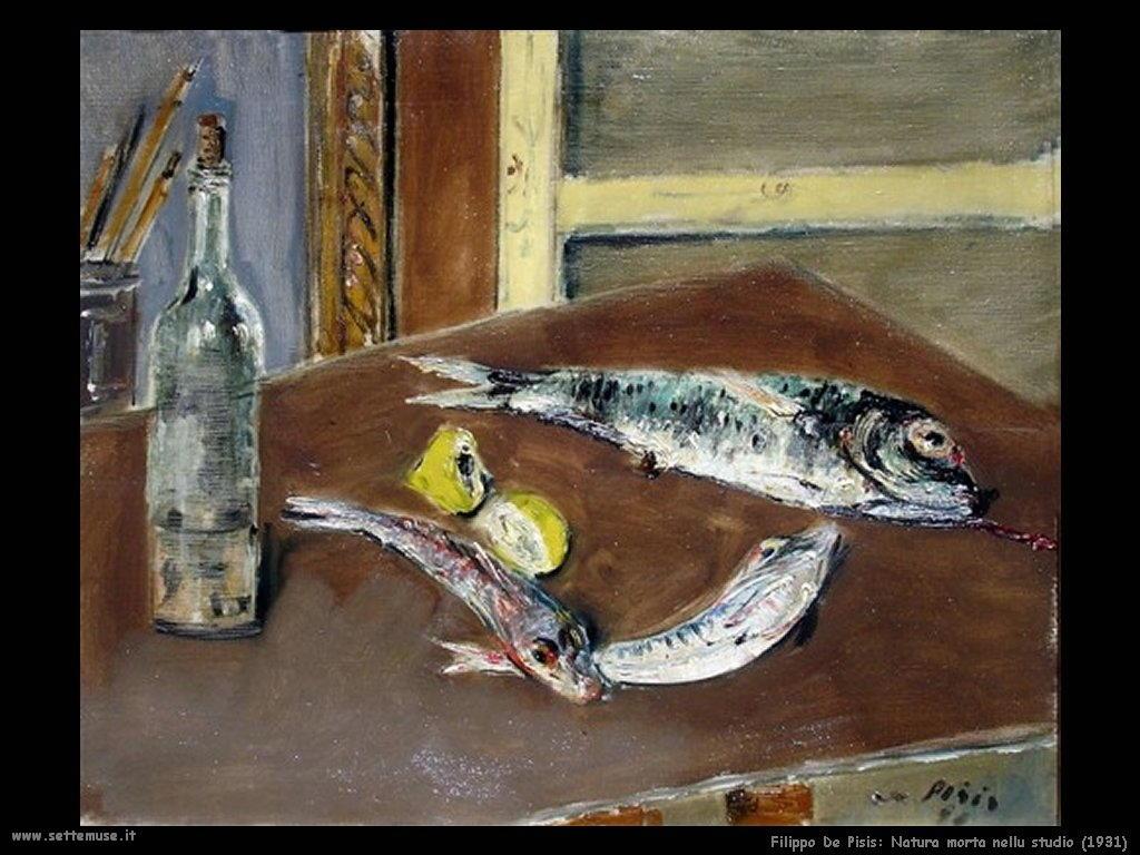 Filippo De Pisis Natura morta nello studio (1931)
