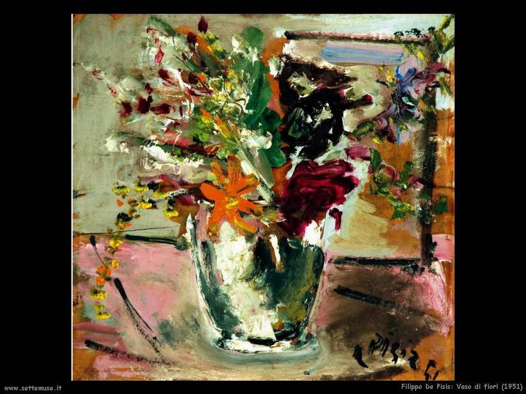 Filippo De Pisis Vaso di fiori (1951)