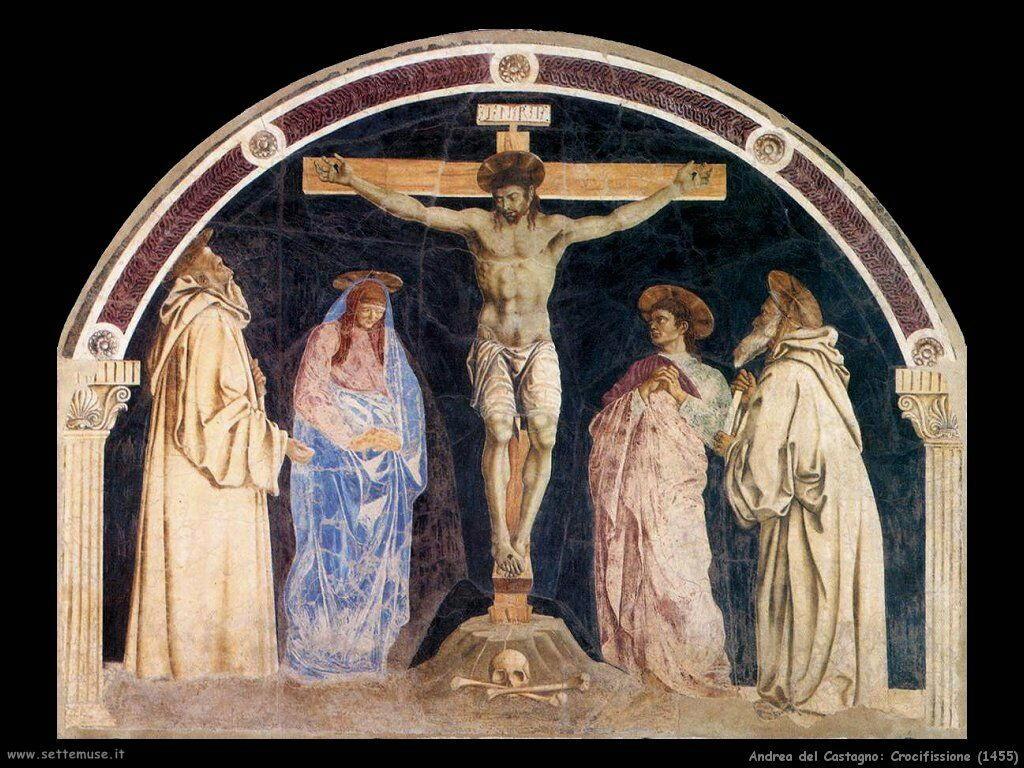 andrea del castagno Crocifissione (1455)