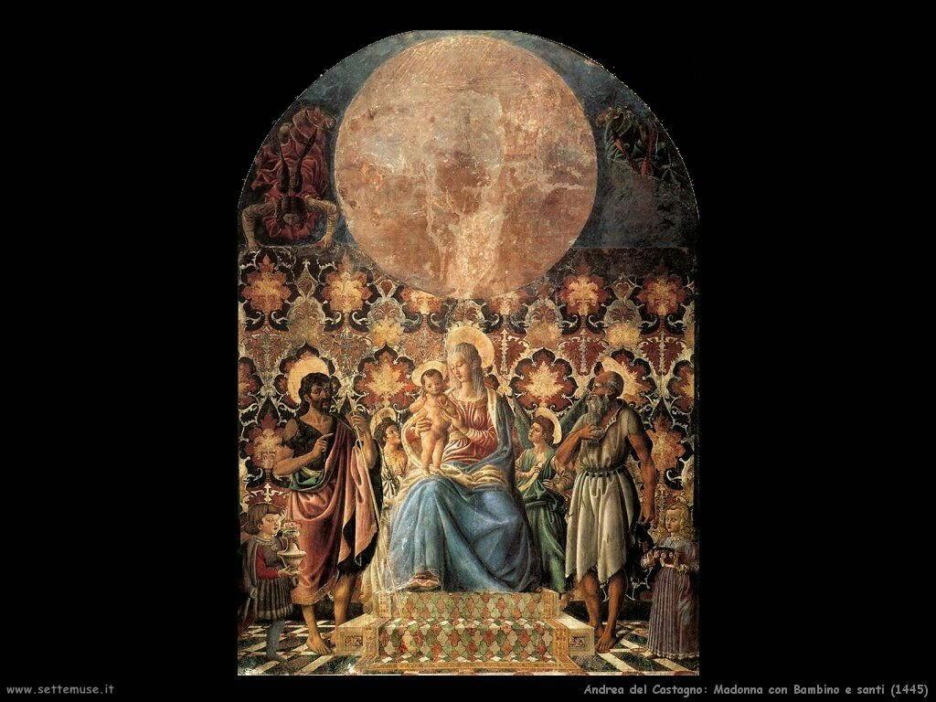 andrea del castagno Madonna con Bambino e santi (1445)
