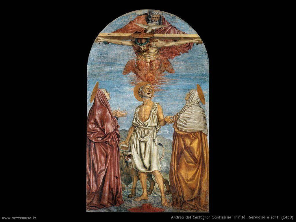andrea_del_castagno santissima_trinita_gerolamo_e_santi 1453