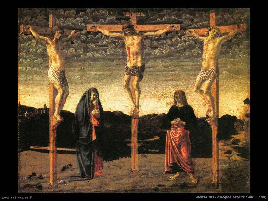 andrea del castagno Crocifissione (1450)