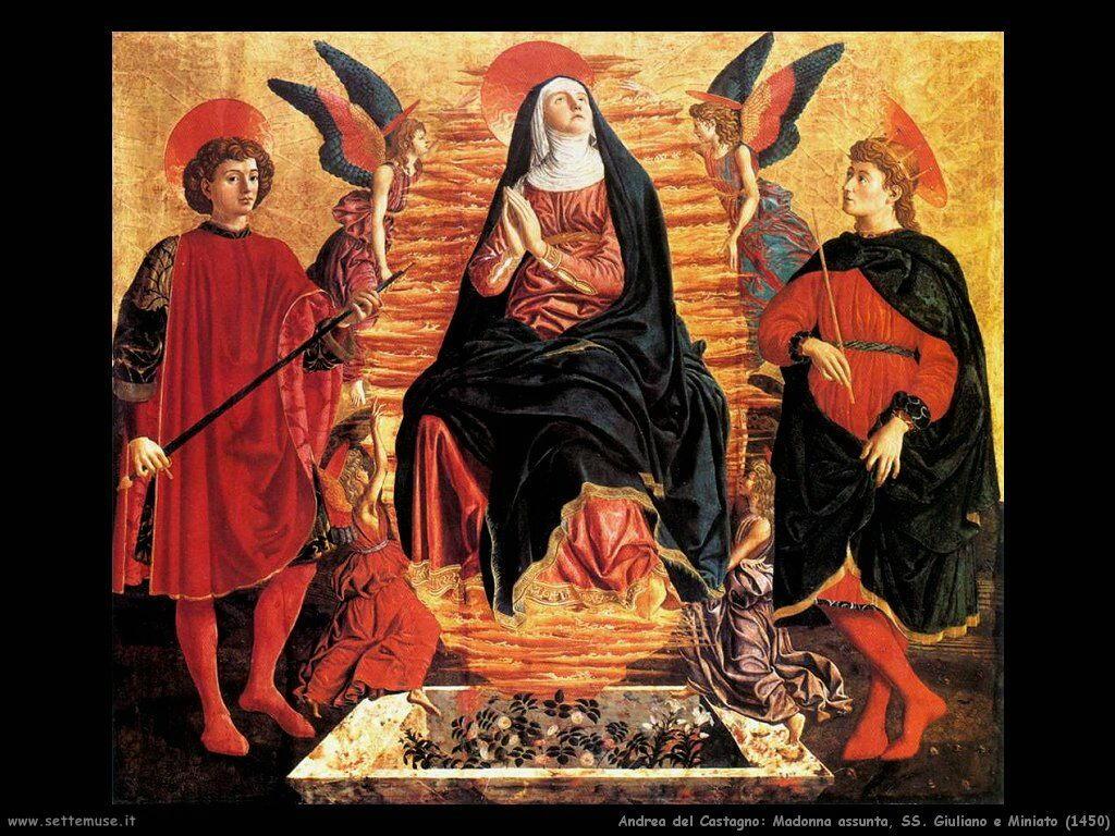 Madonna assunta e SS. Giuliano e Miniato (1450)