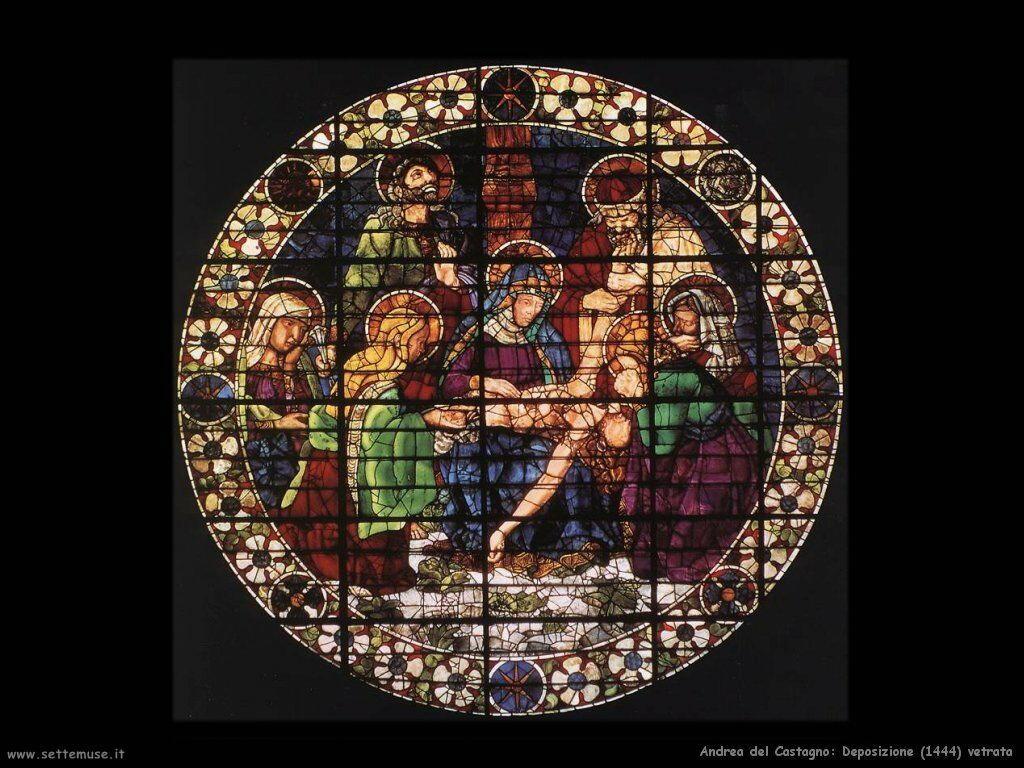 Deposizione (1444) vetrata