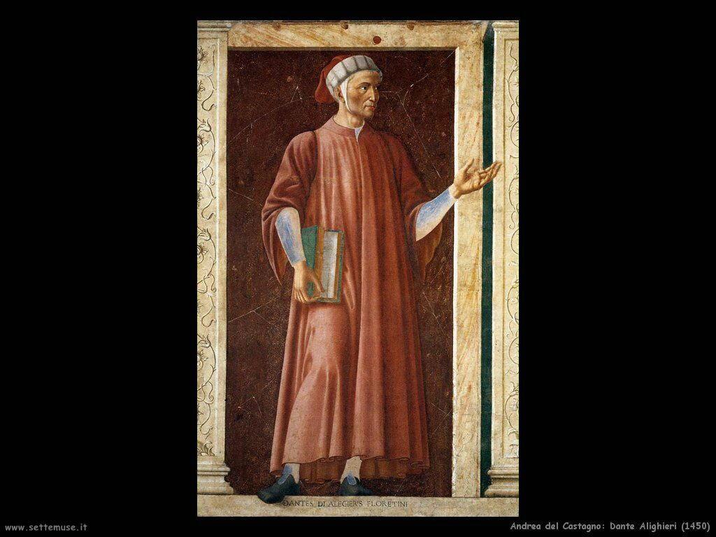 andrea del castagno Dante Alighieri (1450)