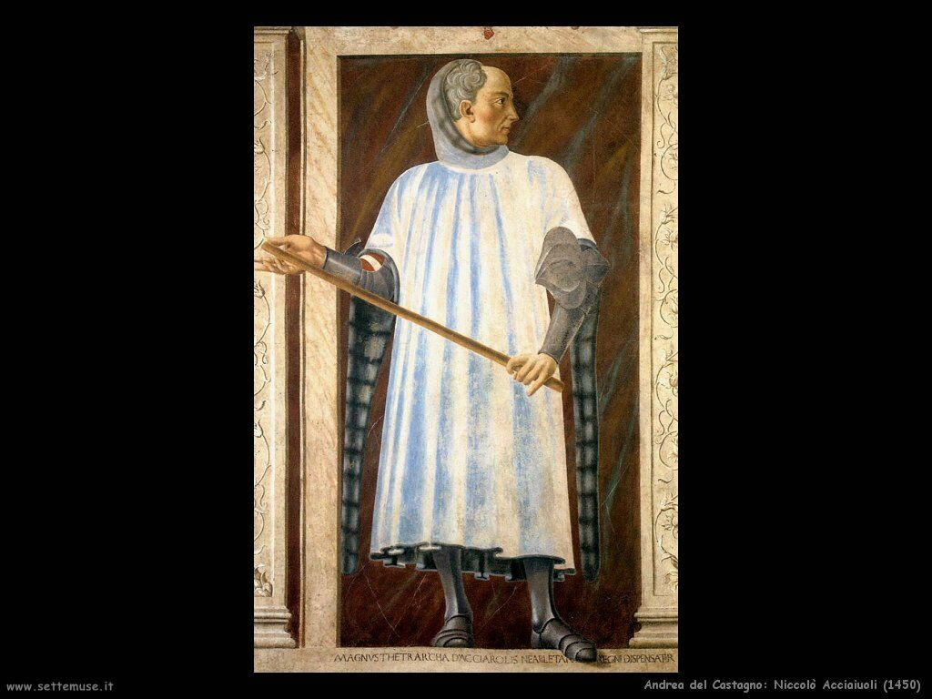 andrea del castagno Niccolò Acciaiuoli (1450)