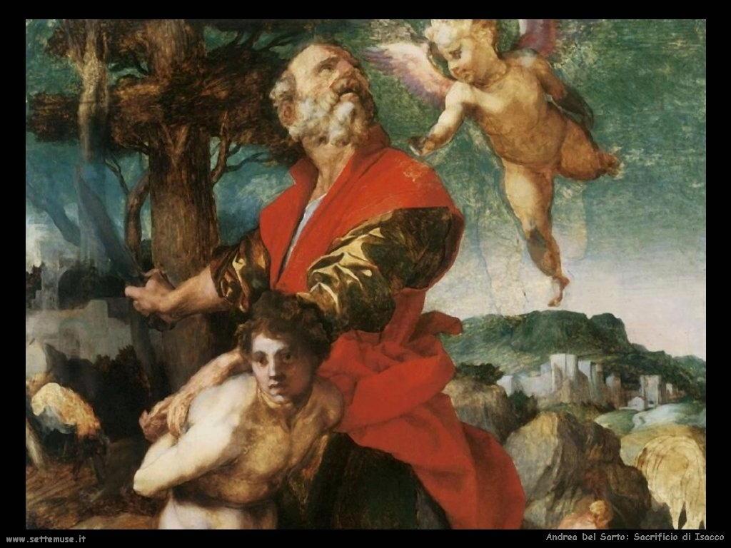 A. del Sarto, Il sacrificio di Isacco dans immagini sacre andrea_del_sarto_001_sacrificio_isacco