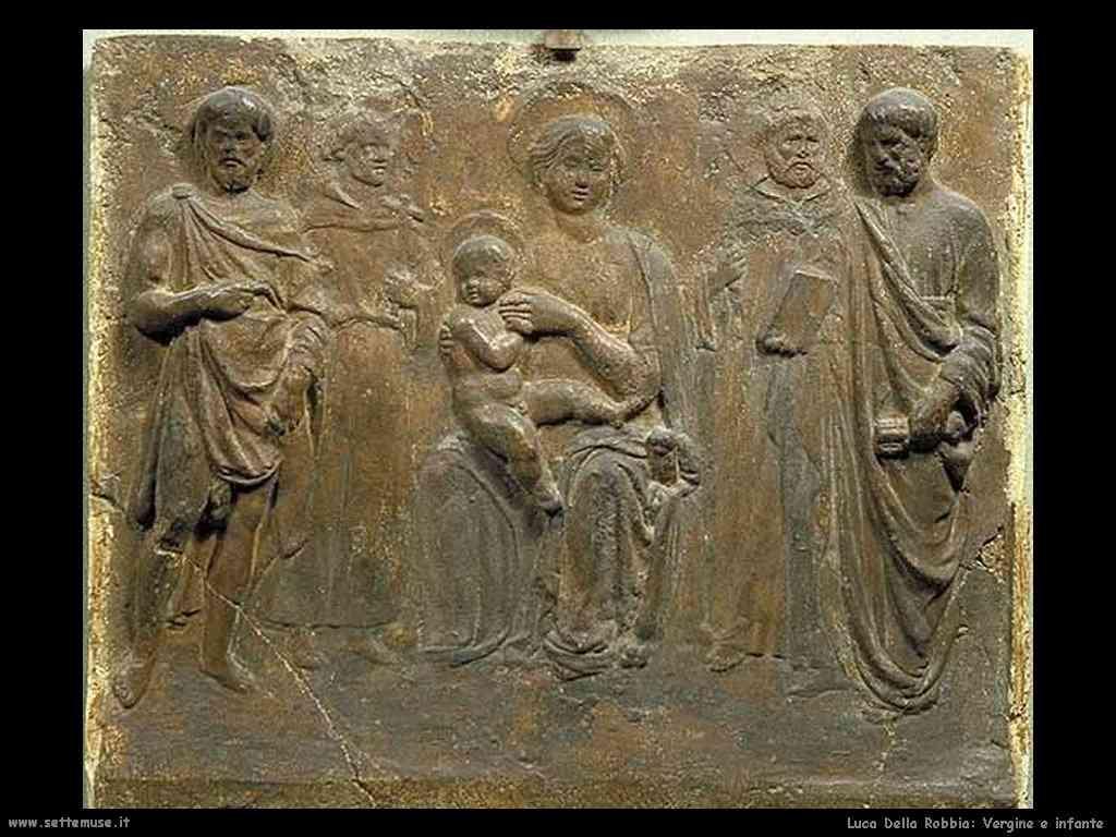 Luca della Robbia Vergine e infante