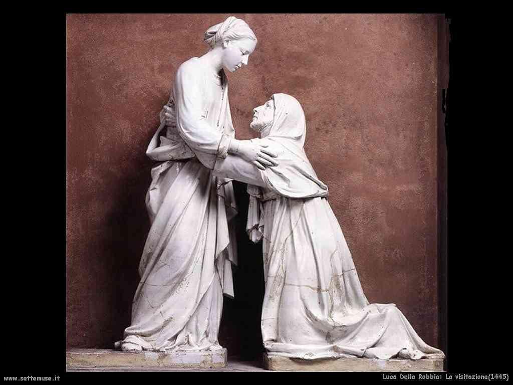 Luca della Robbia La visitazione (1445)