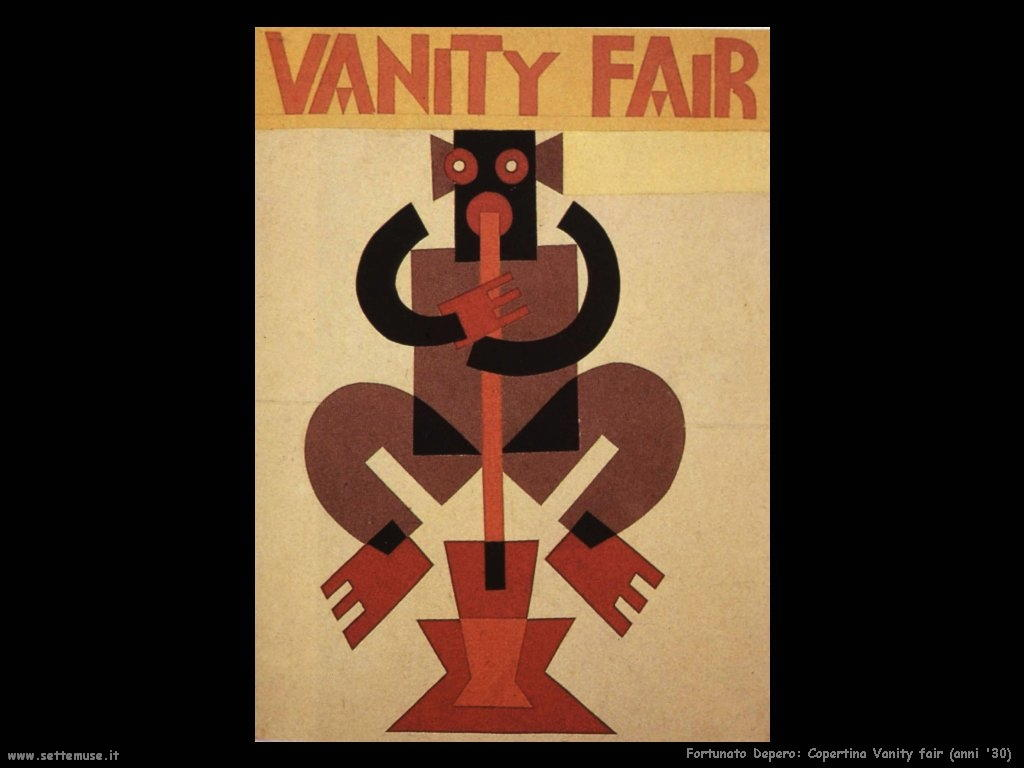 fortunato depero Copertina Vanity Fair (anni '30)