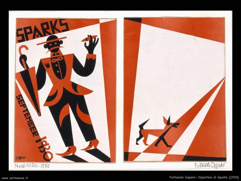 fortunato depero Copertina di Sparks (1930)