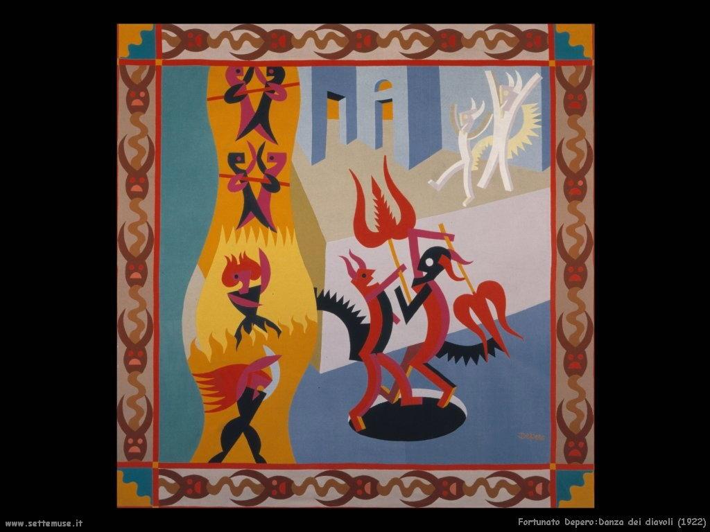 fortunato depero Danza di diavoli (1922)