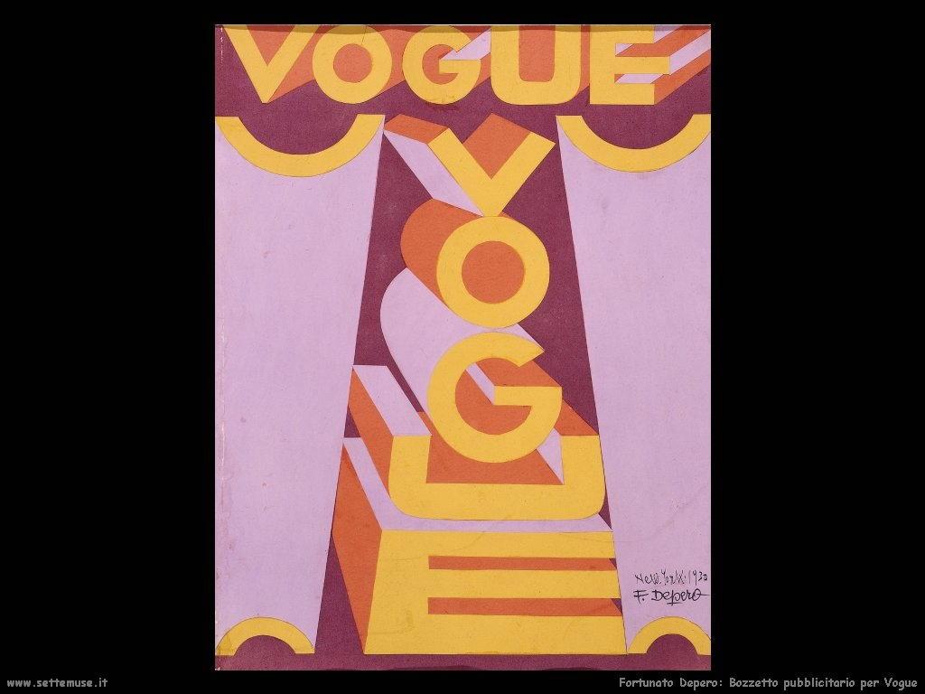 fortunato depero Bozzetto pubblicitario per Vogue
