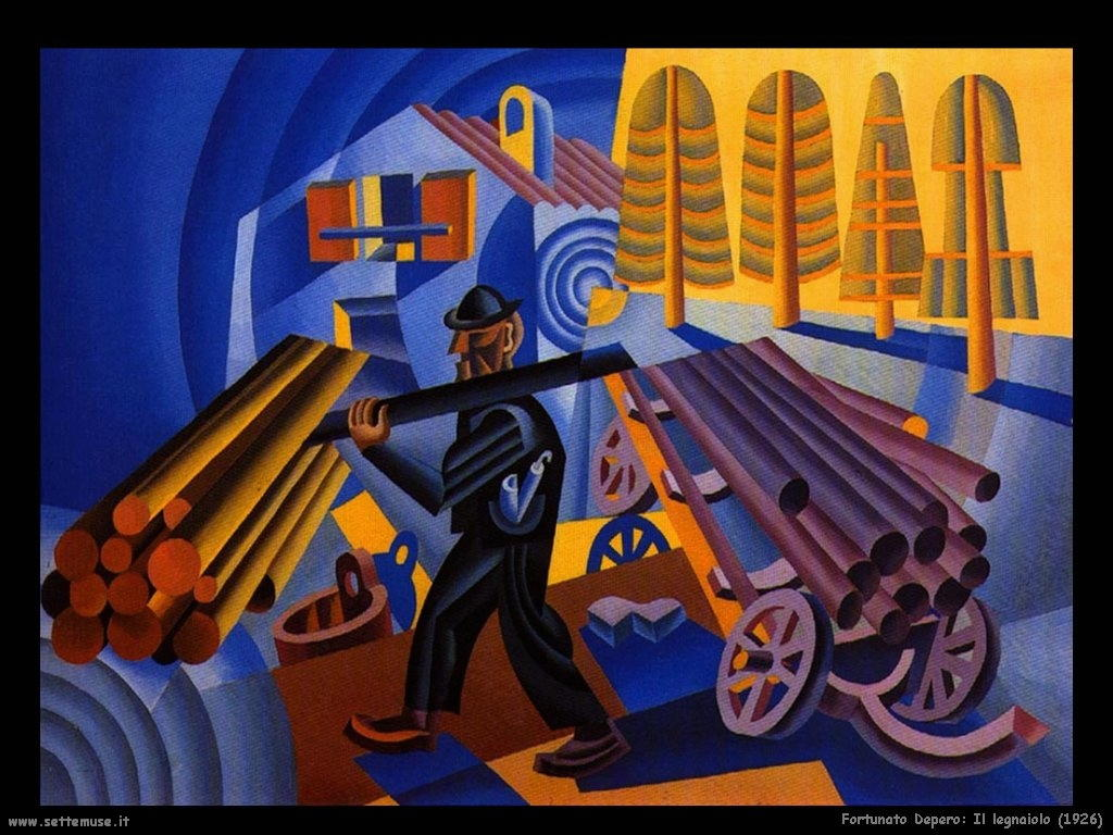 fortunato depero Il legnaiolo (1926)