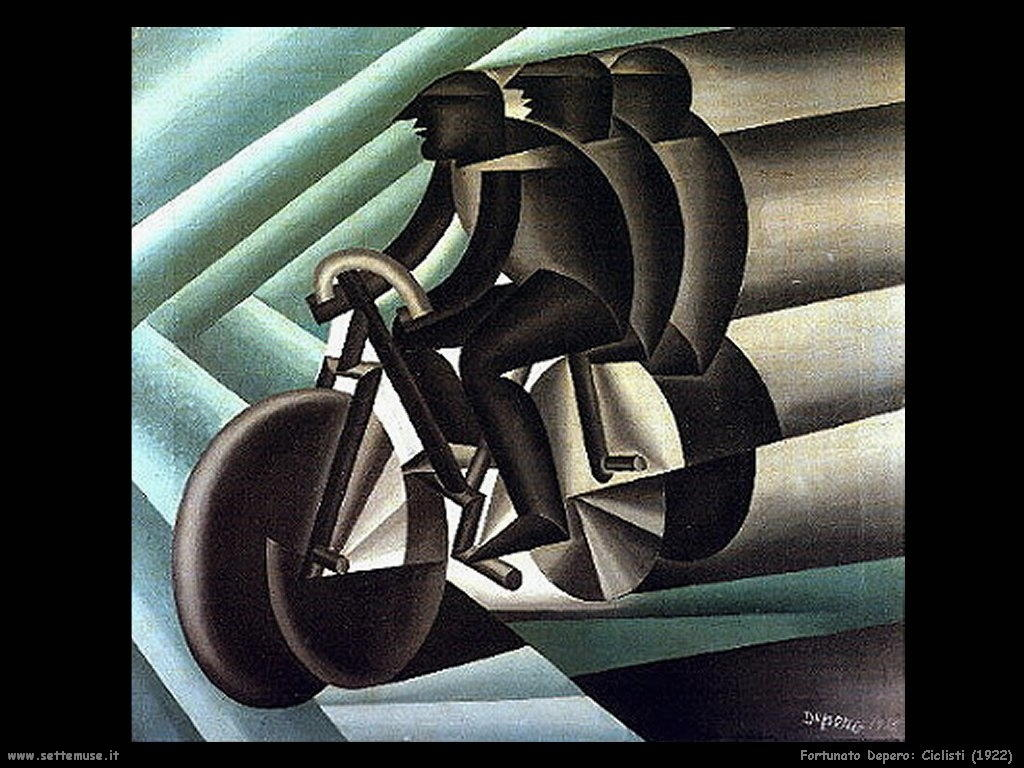 fortunato depero Ciclisti (1922)