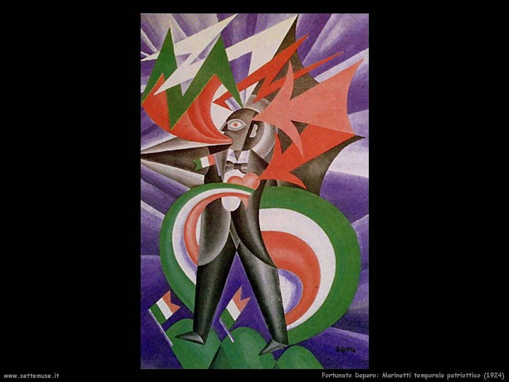 fortunato depero Marinetti temporale patriottico (1924)