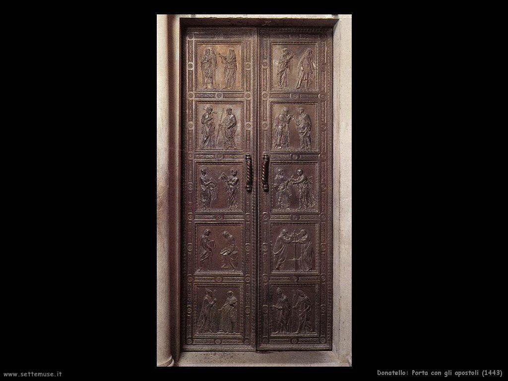 donatello Porta con gli apostoli (1443)
