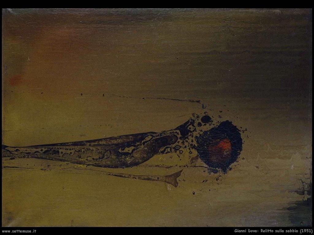 Gianni Dova Relitto sulla sabbia (1951)