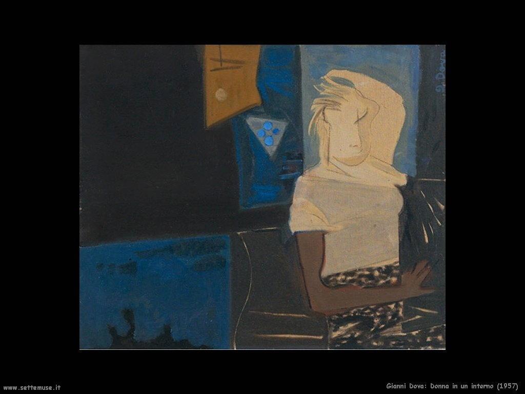 Gianni Dova Donna in interno (1957)