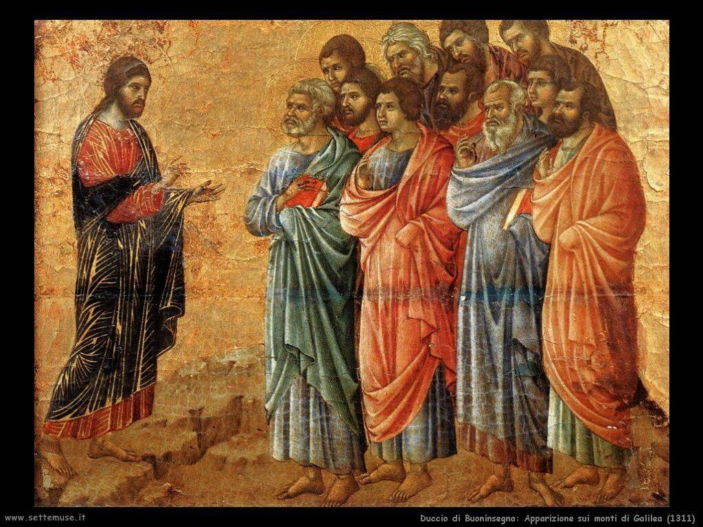 Duccio di Buoninsegna Apparizione sui monti di Galilea (1311)