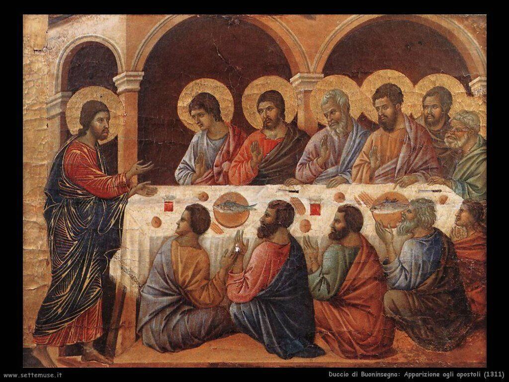 Duccio di Buoninsegna Apparizione agli apostoli (1311)