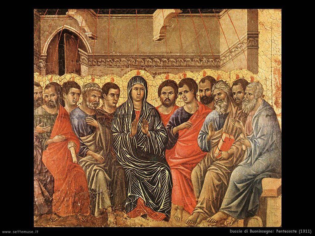 Duccio di Buoninsegna Pentecoste (1311)
