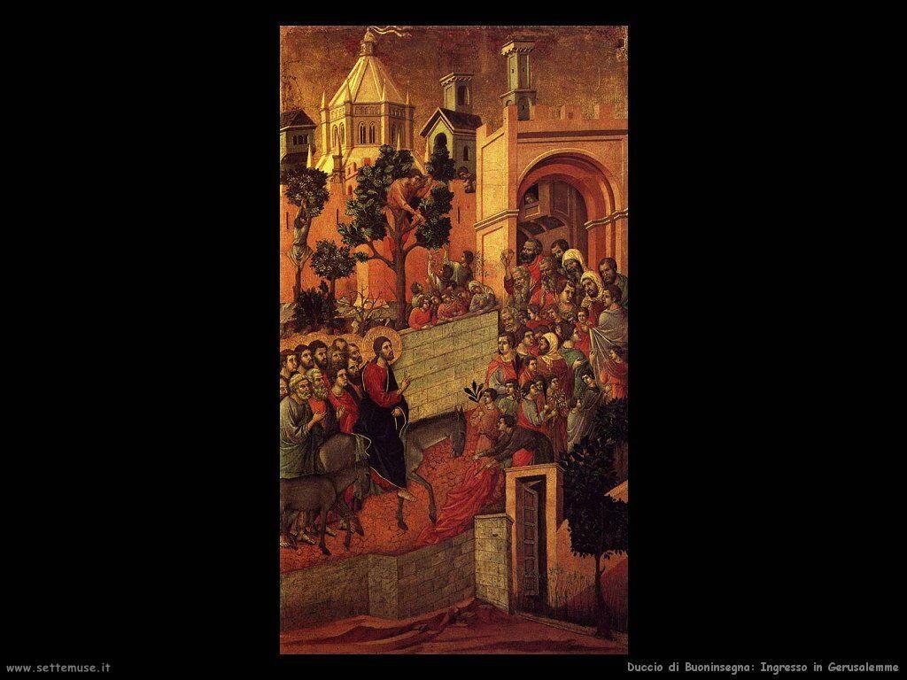 Duccio di Buoninsegna Ingresso in Gerusalemme