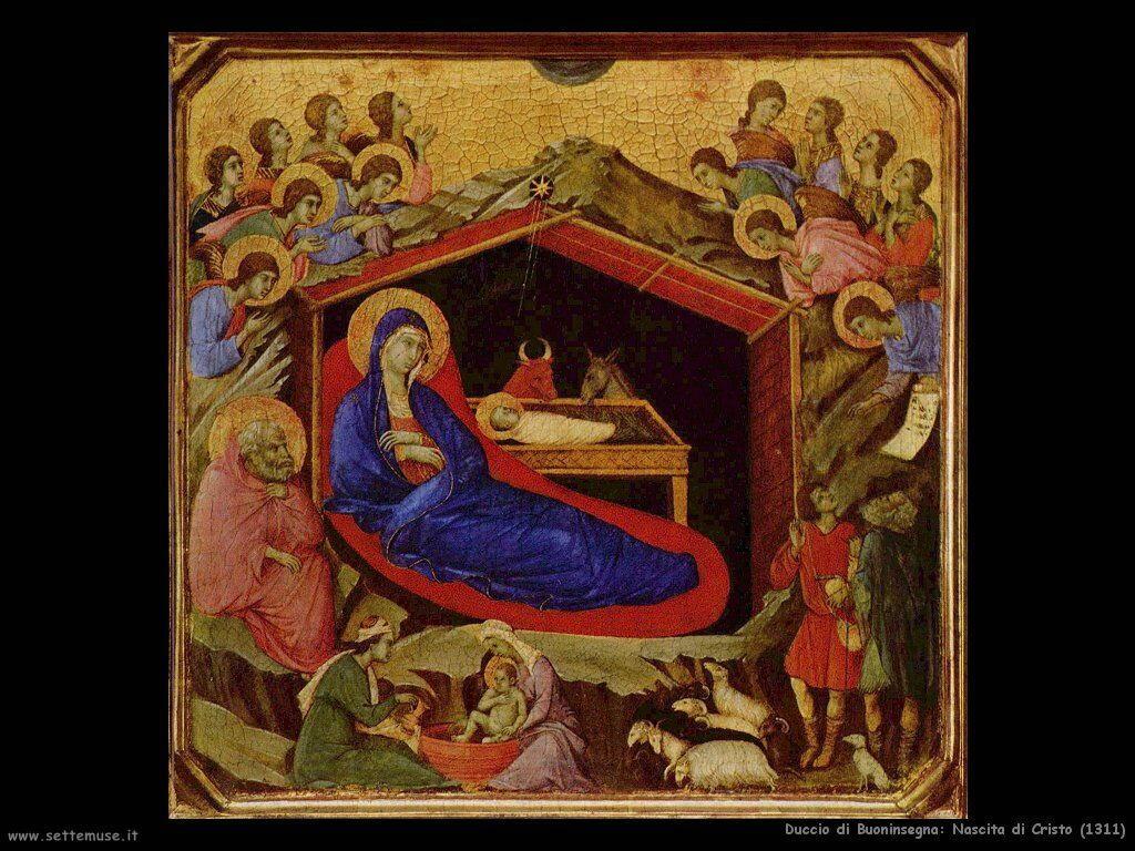 Duccio di Buoninsegna Nascita di Cristo (1311)