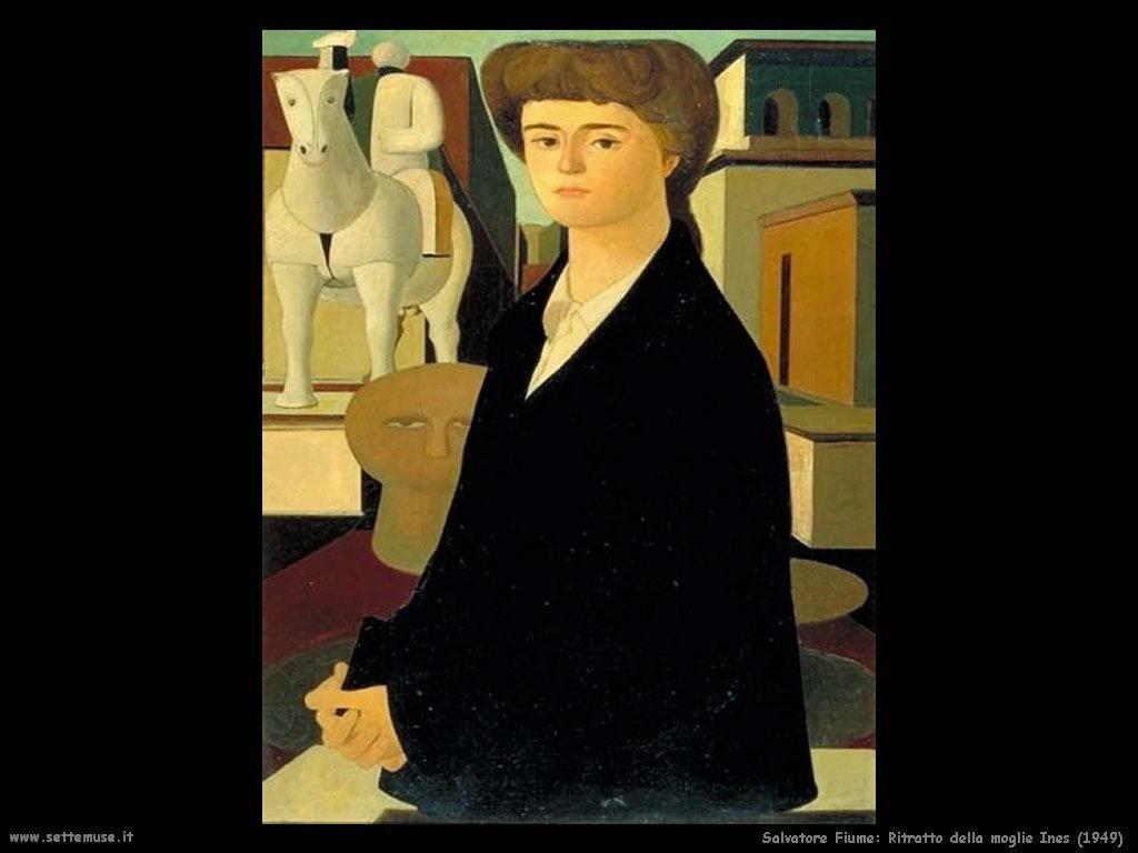 Salvatore Fiume Ritratto della moglie Ines (1949)