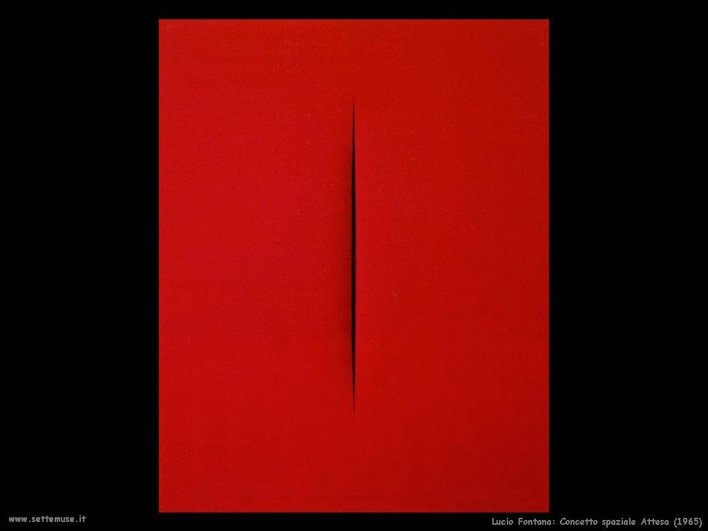 Lucio Fontana Concetto spaziale - attesa (1965)