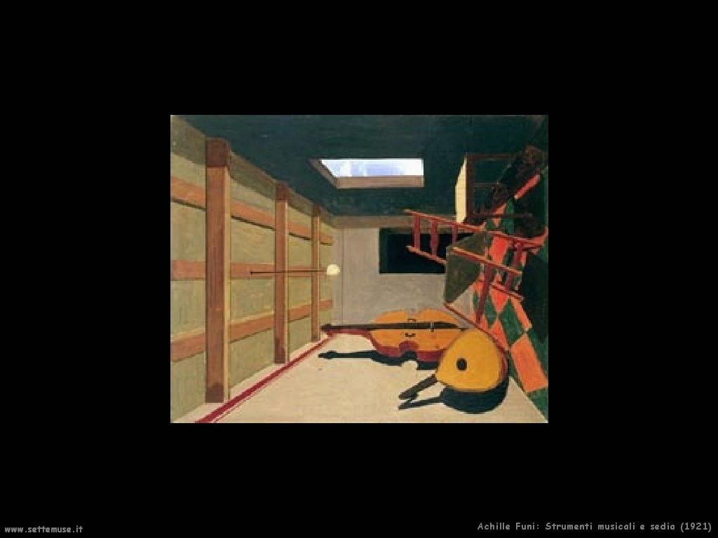 Strumenti musicali e sedia (1921)