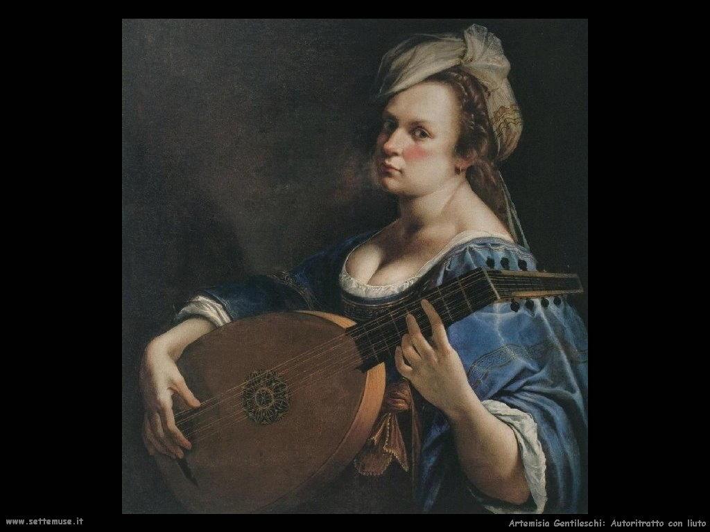 Artemisia Gentileschi Autoritratto con liuto
