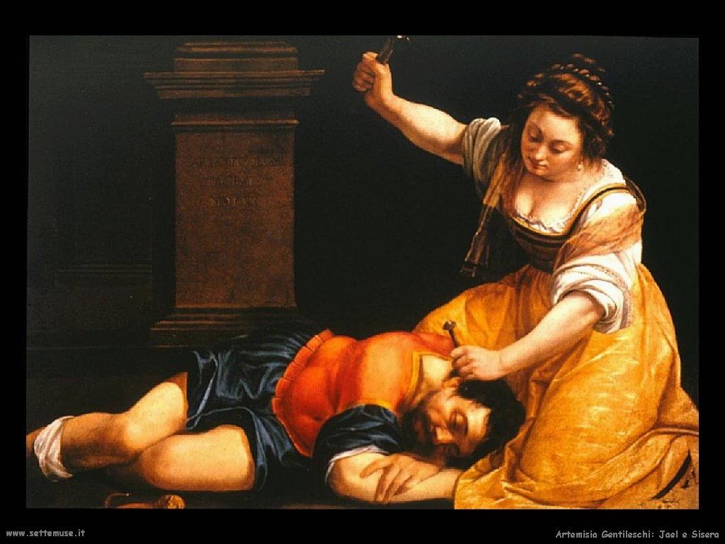 Jael e Sisera di Gentileschi