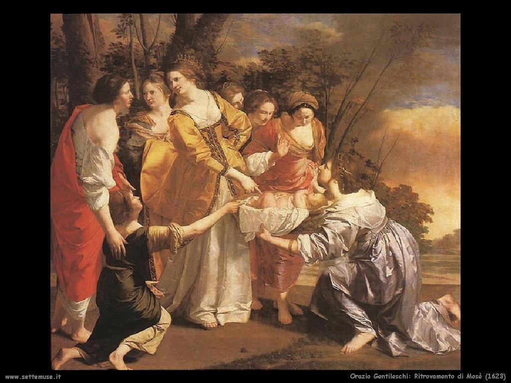 Orazio Gentileschi Ritrovamento di Mosè (1623)