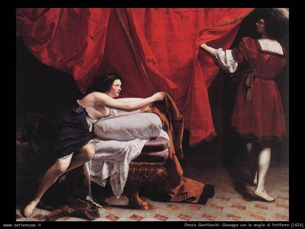 orazio gentileschi  giuseppe_con_moglie_putifarre_1626