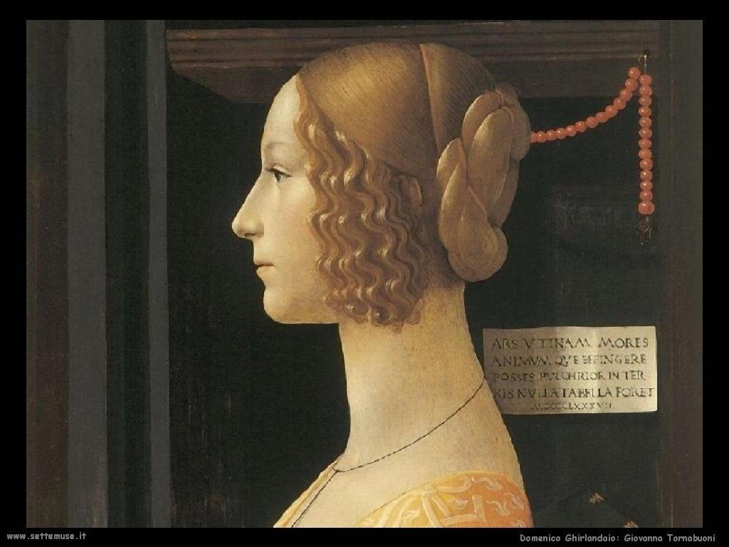 Domenico Ghirlandaio Giovanna Albizzi Tornabuoni (dett)