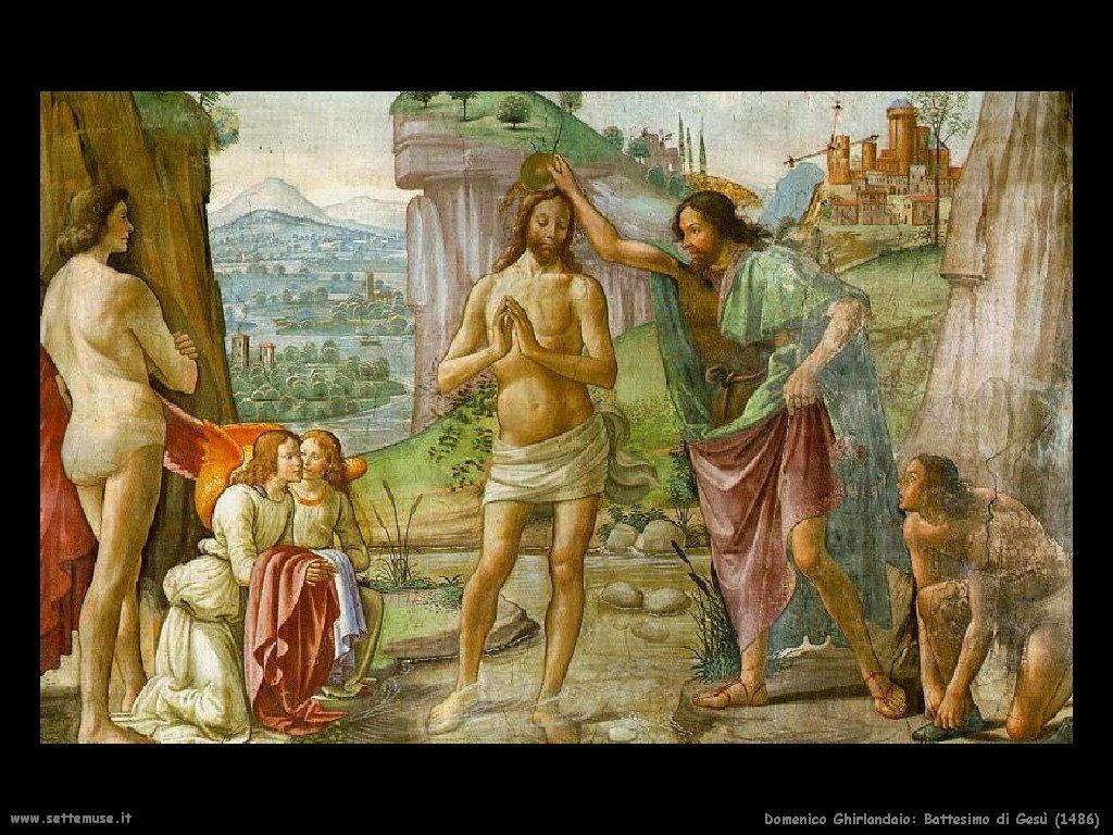 Domenico Ghirlandaio Battesimo di Gesù (1486)