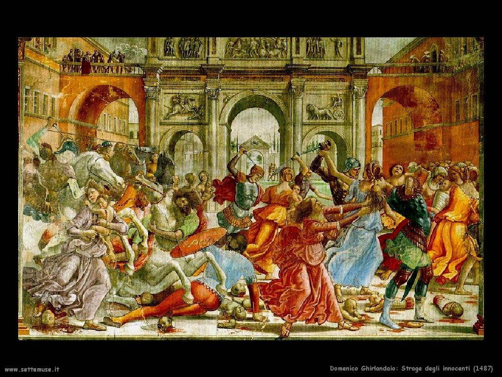 Domenico Ghirlandaio Strage degli innocenti (1487)