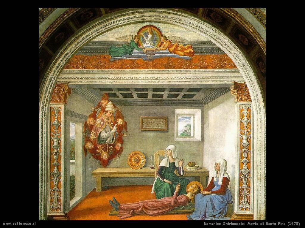 Domenico Ghirlandaio Morte di Santa Fina (1475)