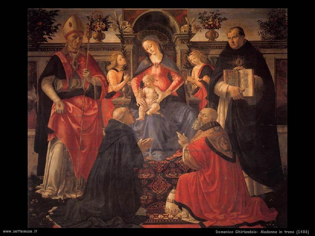 Domenico Ghirlandaio Madonna in trono (1486)