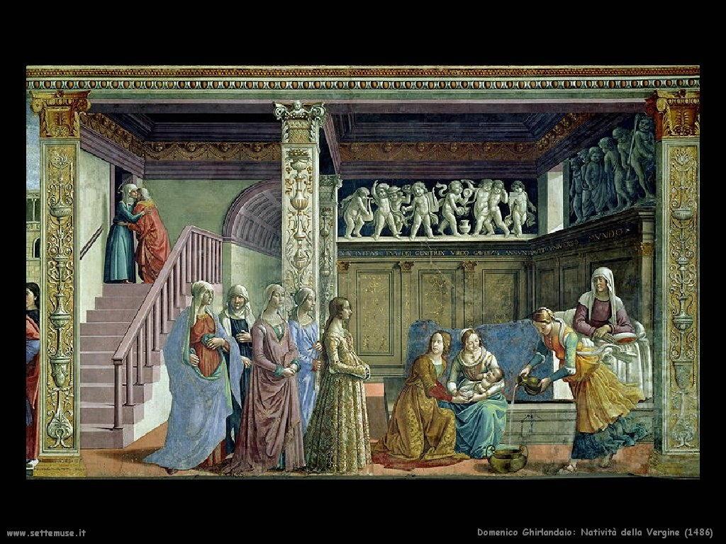 Domenico Ghirlandaio Natività della Vergine 1486