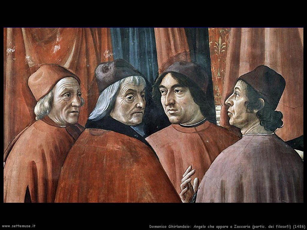 domenico ghirlandaio Angelo che appare a Zaccaria (partic) (1486)