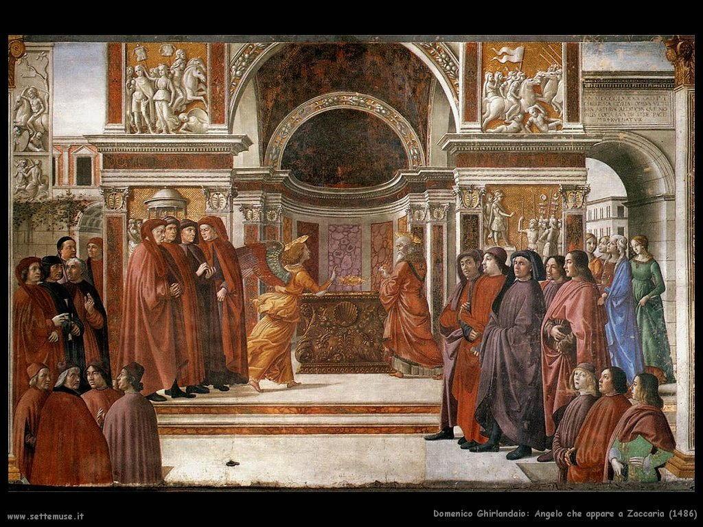 domenico ghirlandaio Angelo che appare a Zaccaria (1486)